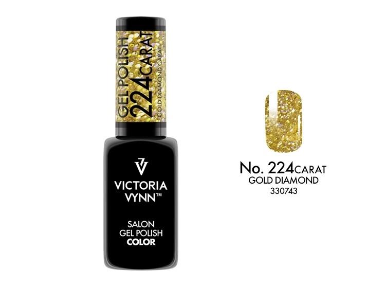 Gel Polish 224 Carat Gold Diamond 8ml