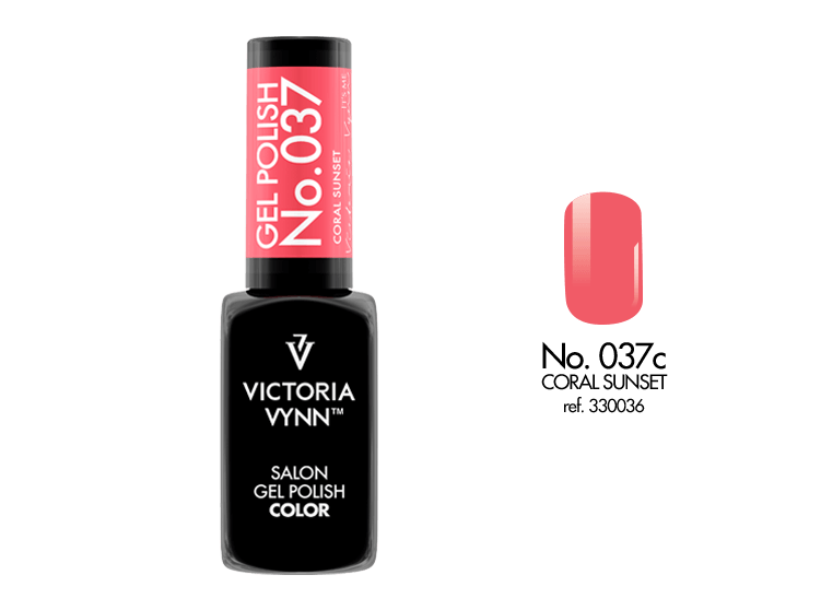 Gel Polish 037 Coral Sunset 8ml