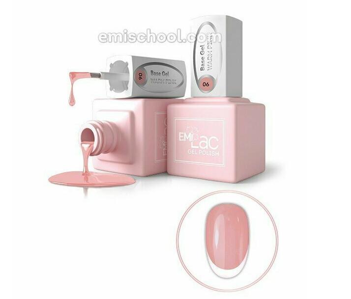 E.MiLac Base Gel Warm Pink #06, 9 ml.