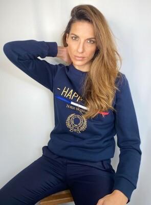 Felpa color blu navy