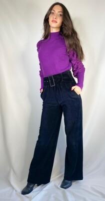 Pantaloni velluto a coste nero