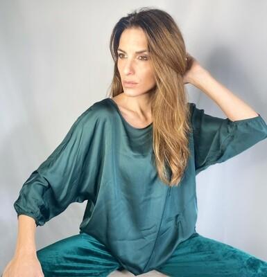Blusa oversize verde abete