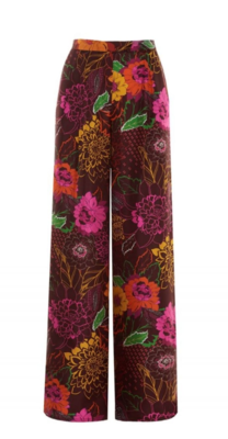 PANTALONI CON STAMPA FLOWER NIGHT