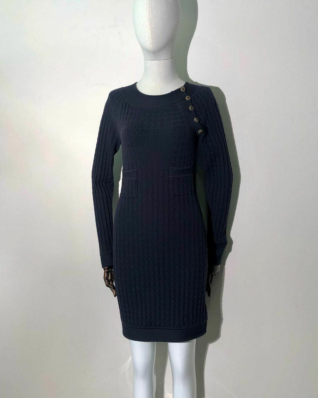 Трикотажное платье от Chanel