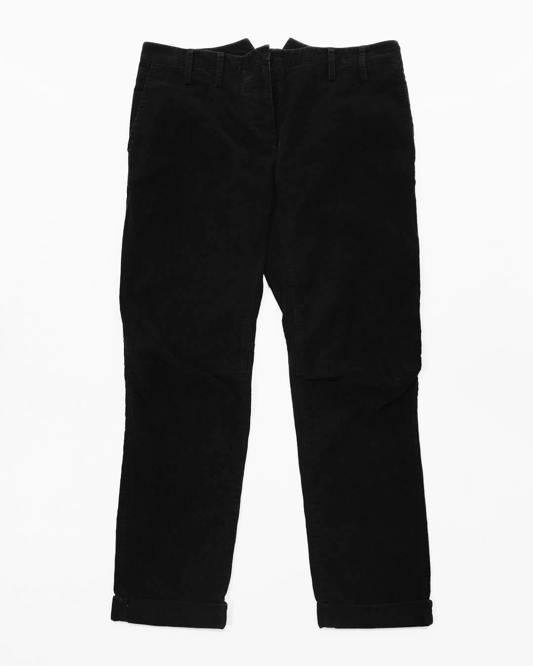 Женские вельветовые брюки с защипами на коленях от Balmain