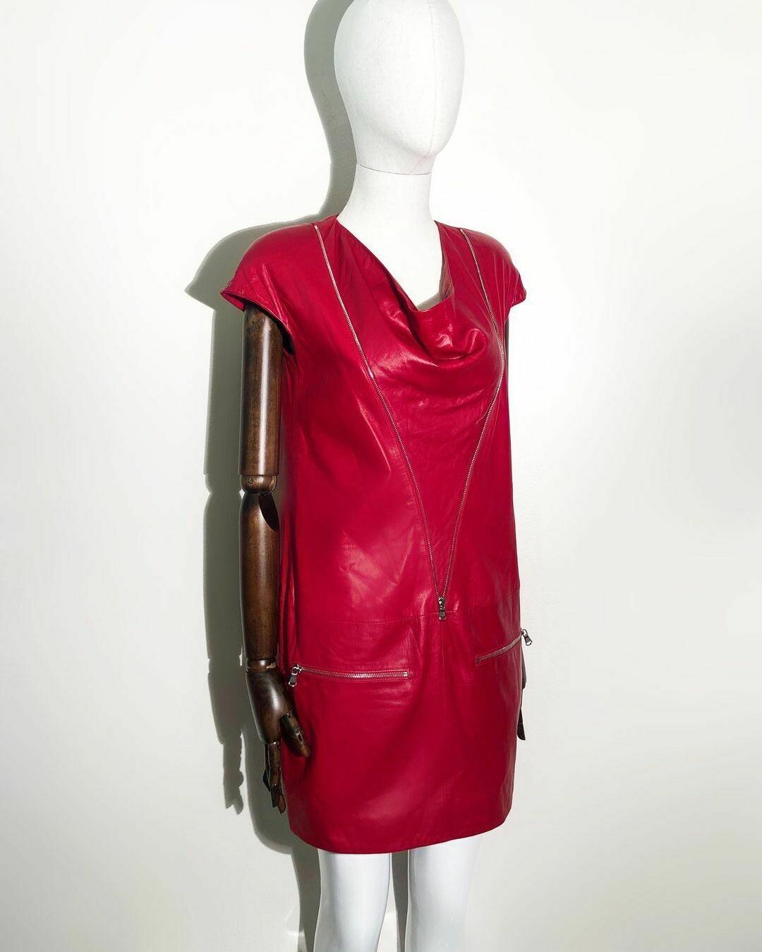 Новое кожаное платье от Irfe