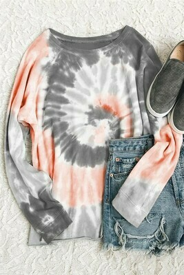 Tie Dye Loose Sweatshirt