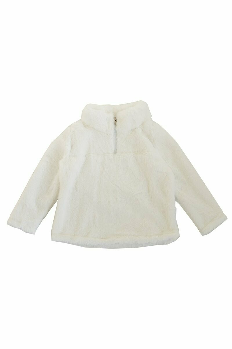 White Sherpa Zip Jacket