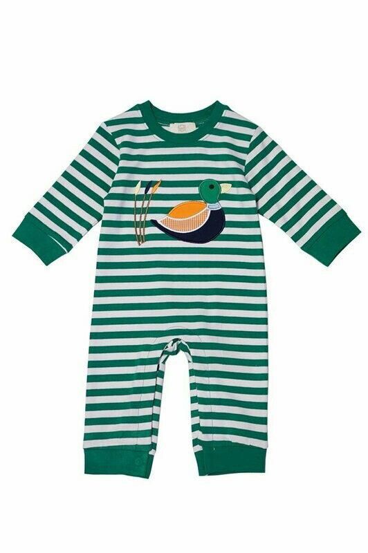 Duck Knit Boy Romper