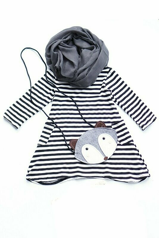 Blk/White Stripe 3pc set