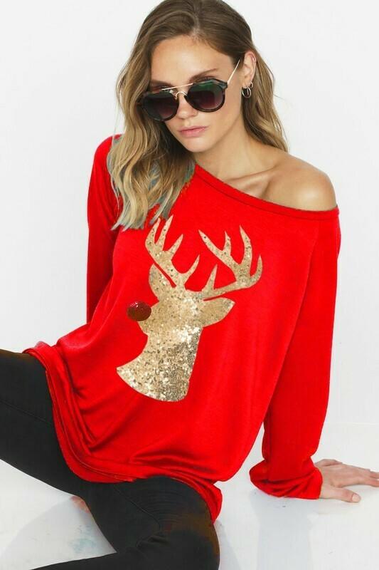 Rudolph Sequin Patch Shirt