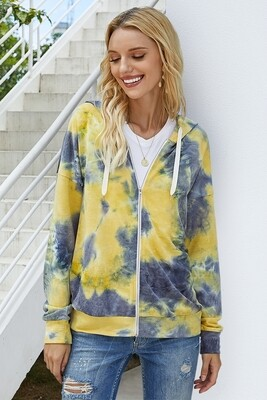 Tie Dye Zip Up