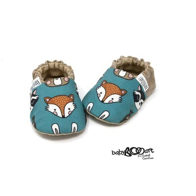 baby fox print moccasins