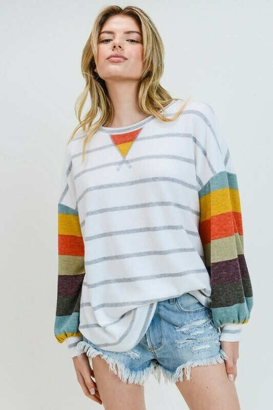Striped Cashmere Brushed