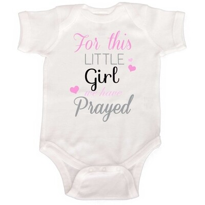 For this little one prayed