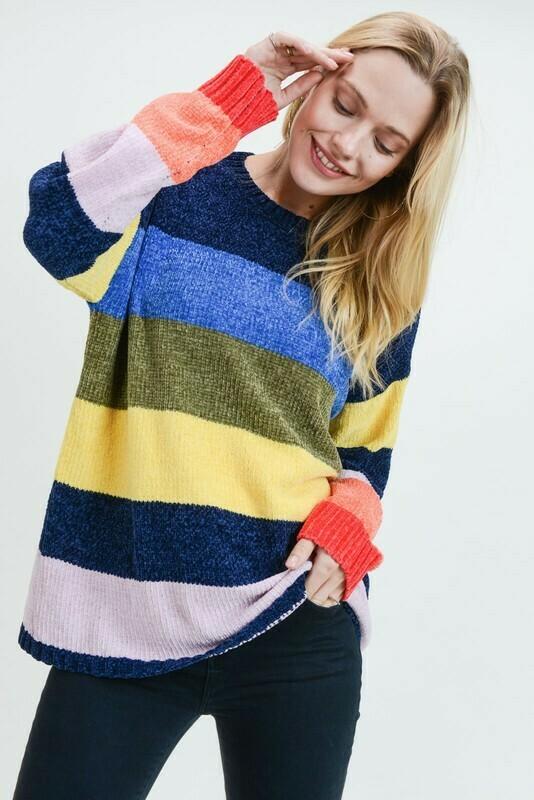 Multi Striped Sweater