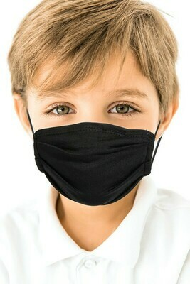 Kid Face Mask Black 3 and up