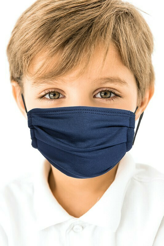 Kids Face mask Navy 3 and up