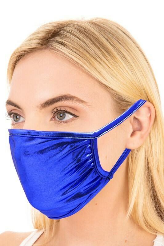 Adult Shiny blue face mask