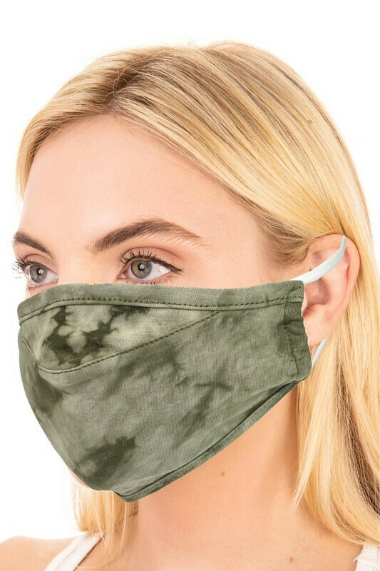 Adult Olive Tie Dye Mask