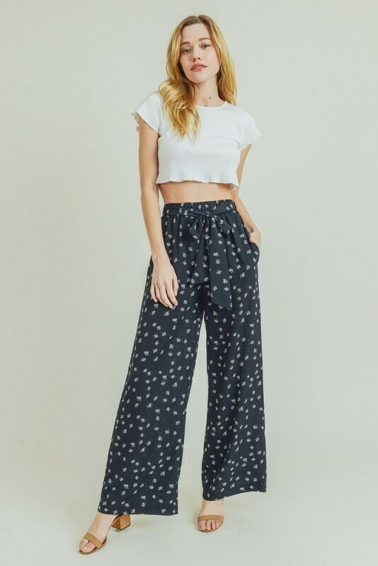 Polkadot Wide Leg Pants