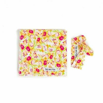 Spring floral swaddle blanket 34'x34'