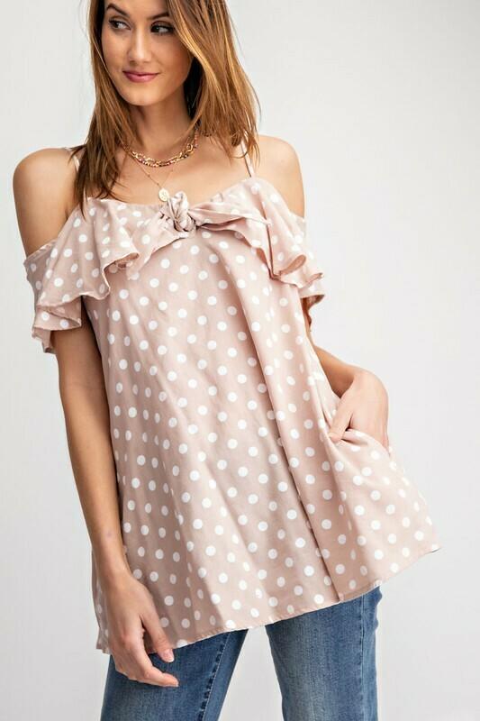pokadots soft cotton shirt