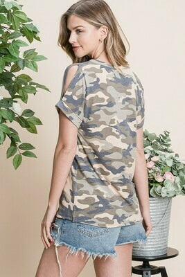Camo Cold Shoulder