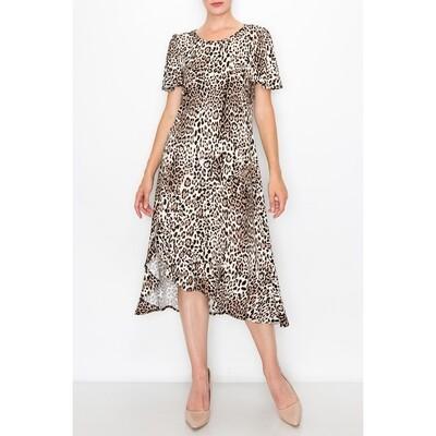 Animal Flutter Dress