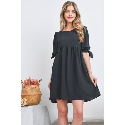 Half Sleeve Shirred Dress