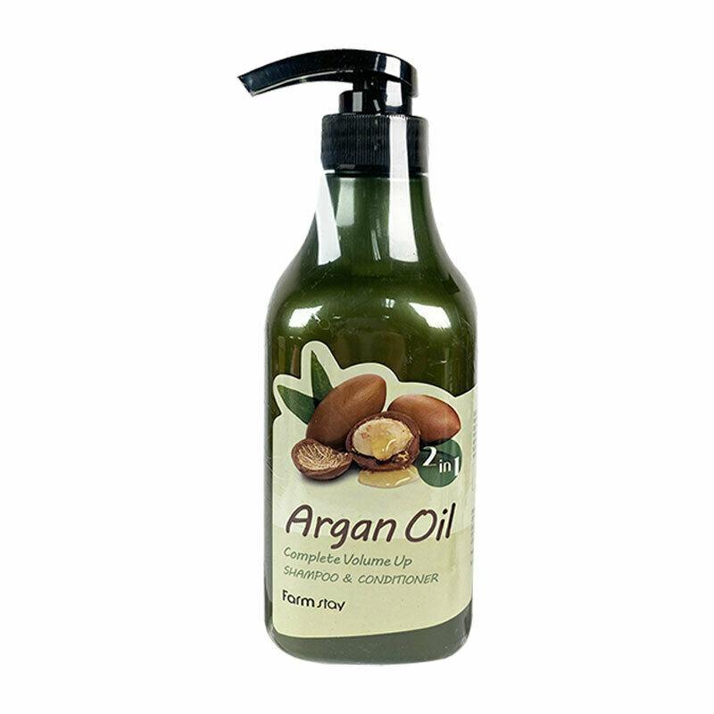FARM STAY Argan Oil Complete Volume Up Shampoo & Conditioner 530ml