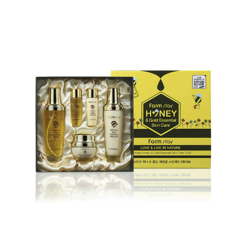 FARM STAY Honey & Gold Essential Skin Care 3 SET