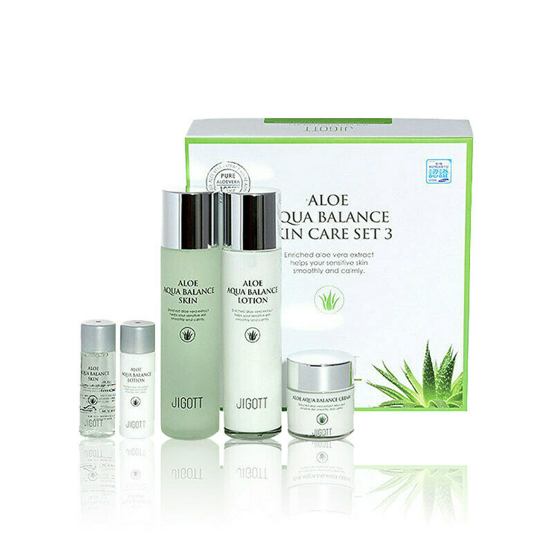 JIGOTT Aloe Aqua Balance Skin Care Set 3 150ml+150ml+50ml