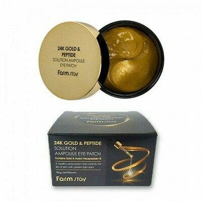 FARM STAY 24K Gold & Peptide Solutionampoule Eye Patch 90g