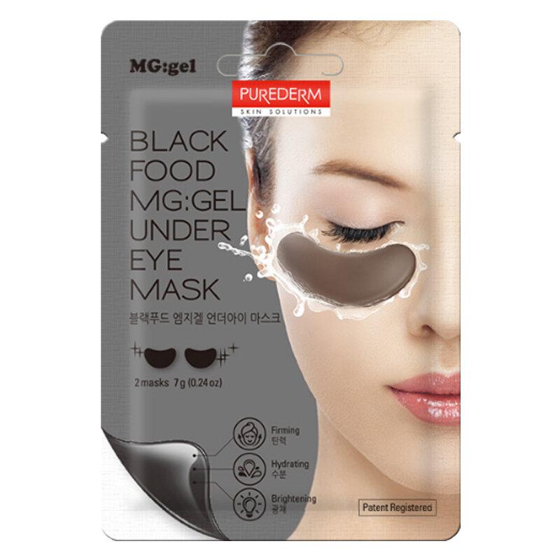 PUREDERM Black Food MG:gel Under Eye Mask 7g