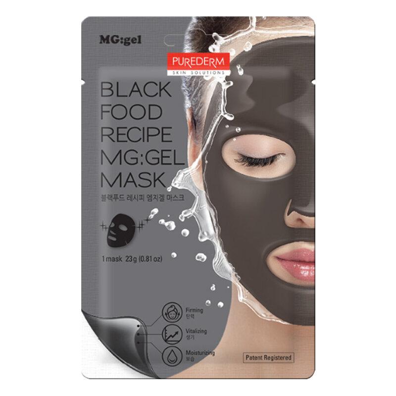 PUREDERM Black Food Recipe MG:gel Mask 23g