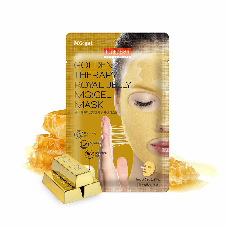 PUREDERM Golden Therapy Royal Jelly MG:Gel Mask 23g 1pcs