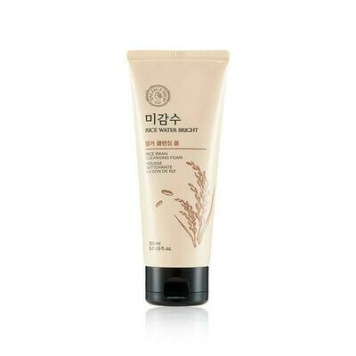 THE FACE SHOP Rice Water Bright Rice Bran Foaming Cleanser 150ml