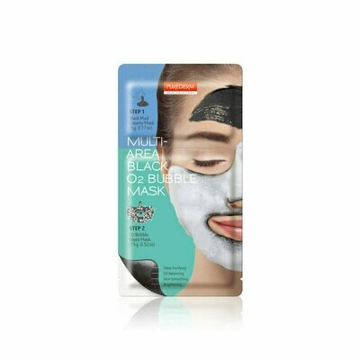 PUREDERM Multi-Area Black O2 Bubble Mask 5g+15g