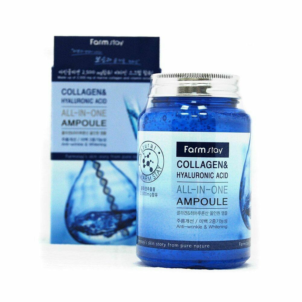 FARM STAY Collagen & Hyaluronic Acid All-in-One Ampoule 250ml