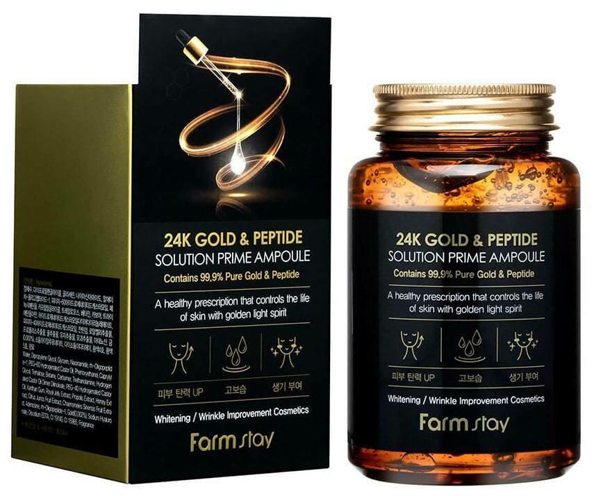 FARM STAY 24K Gold & Peptide Solution Prime Ampoule 250ml