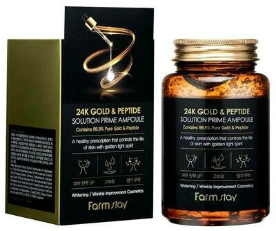 FARM STAY 24K Gold & Peptide Solution Prime Ampoule 250ml