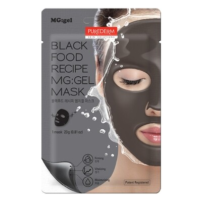 PUREDERM Black Food Recipe MG:gel Mask 23g
