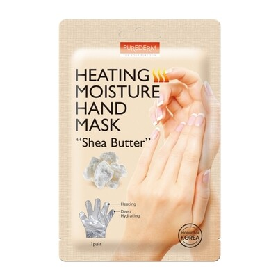 "PUREDERM Heating Moisture Hand Mask ""Shea Butter"""