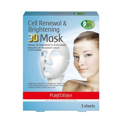 PUREDERM Cell Renewal & Brightening 3D Mask 3 sheets