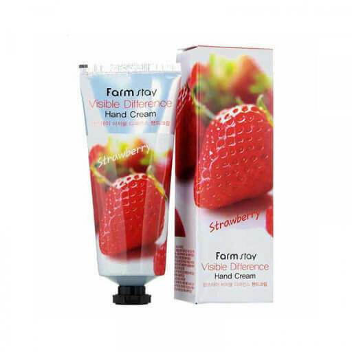 FARM STAY Visible Difference Hand Cream 100ml #Strawberry