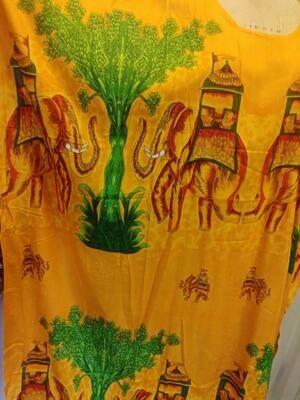 Elephants & Trees hand screened printed tunic.