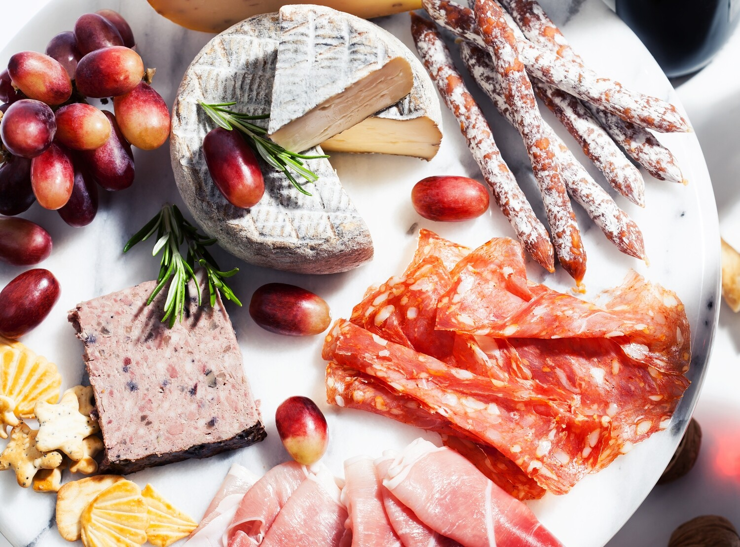 Petite Meat, Cheese, Fruit and Vegetable Board