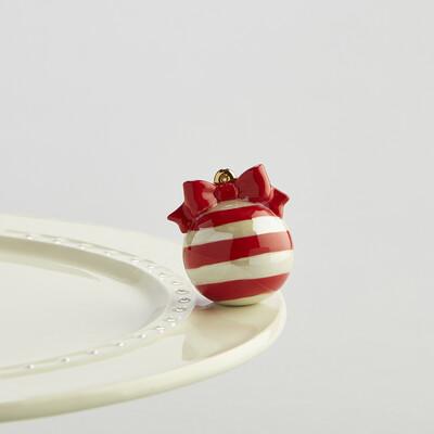 Mini's - Ornament Red & White Deck the Halls