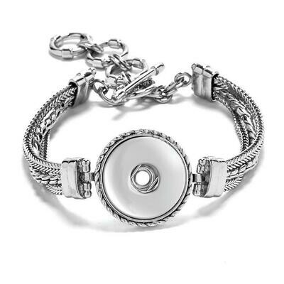 1 Snap Multi Chain Bracelet